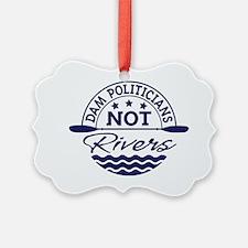 dam politicians navy Ornament