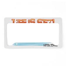 lifeisSet-white License Plate Holder