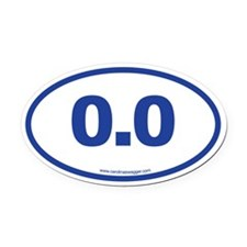0.0 NO RUNNING Blue Oval Car Magnet