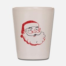 Smiling Santa Face Shot Glass
