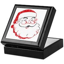 Smiling Santa Face Keepsake Box