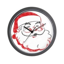 Smiling Santa Face Wall Clock