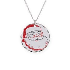 Smiling Santa Face Necklace