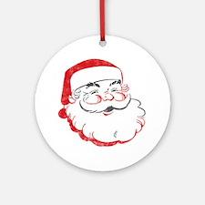 Smiling Santa Face Round Ornament