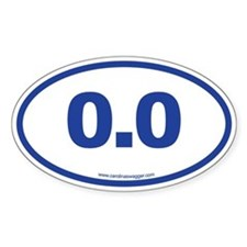 0.0 NO RUNNING Blue Decal