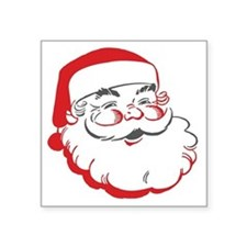 "Santa Square Sticker 3"" x 3"""