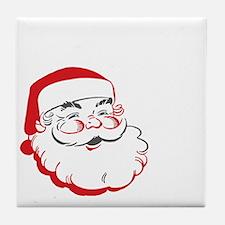 Whos Your Santa Tile Coaster