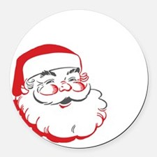 Whos Your Santa Round Car Magnet