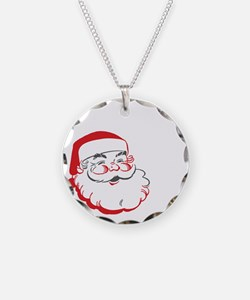 Whos Your Santa Necklace Circle Charm