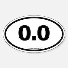 0.0 NO RUNNING Black Bumper Stickers
