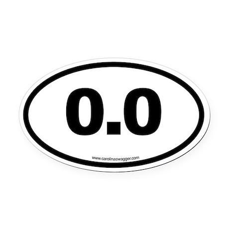 0.0 NO RUNNING Black Oval Car Magnet