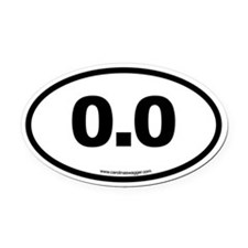 0.0 NO RUNNING Black Oval Car Magnet