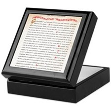 desiderata Keepsake Box