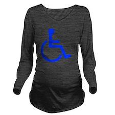 handicapped yard Long Sleeve Maternity T-Shirt