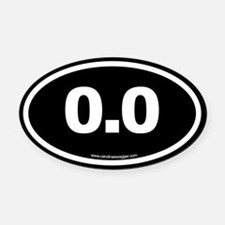 0 Oval Car Magnet