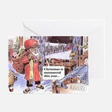 christmasoutsourced200 Greeting Card