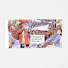 christmasoutsourced200 Aluminum License Plate
