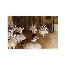 NC Degas Ballet Reh Rectangle Magnet