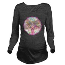 wildflower round wit Long Sleeve Maternity T-Shirt