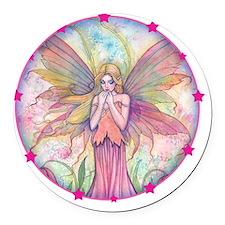 wildflower round with star border Round Car Magnet