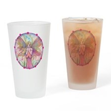 wildflower round with star border Drinking Glass