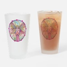 wildflower round with star border Drinking Glass