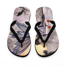 Autumn Raven Flip Flops