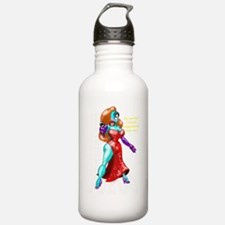 MF JR WHITE text Water Bottle