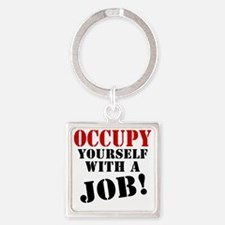 Occupy-Yourself Square Keychain
