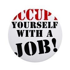 Occupy-Yourself Round Ornament