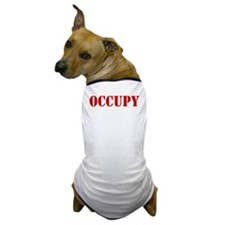 Occupy-Yourself-White Dog T-Shirt