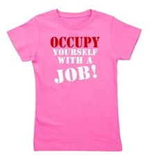 Occupy-Yourself-White Girl's Tee