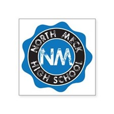 "gym_northmeck_stamped Square Sticker 3"" x 3"""
