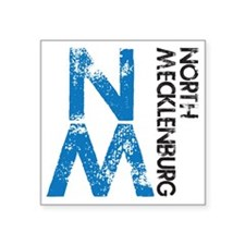 "gym_northmeck_distressed Square Sticker 3"" x 3"""