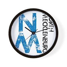 gym_northmeck_distressed Wall Clock