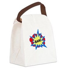 Reality Hits Hard White Canvas Lunch Bag