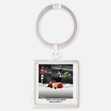 7427_scooter_cartoon Square Keychain