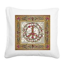 Elegant Peace, Victorian Square Canvas Pillow