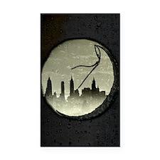 Moon Over Manhattan Rectangle Car Magnet