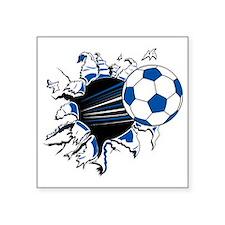 "Soccer Ball Burst Square Sticker 3"" x 3"""