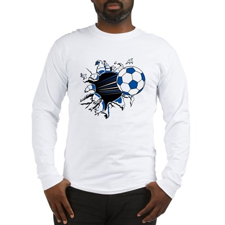 Soccer Ball Burst Long Sleeve T-Shirt