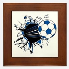 Soccer Ball Burst Framed Tile