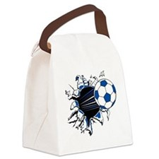Soccer Ball Burst Canvas Lunch Bag