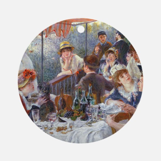 Pillow Renoir Boating Round Ornament