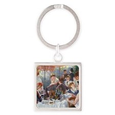 Pillow Renoir Boating Square Keychain