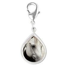 keychain-jinglefront Silver Teardrop Charm
