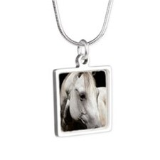 keychain-jinglefront Silver Square Necklace