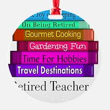 retired teacher pendant Ornament