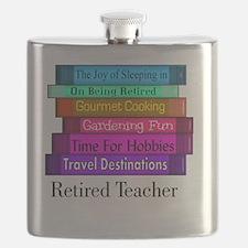 retired teacher pendant Flask