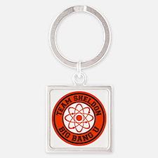 orange blk, Sheldon BBU Square Keychain